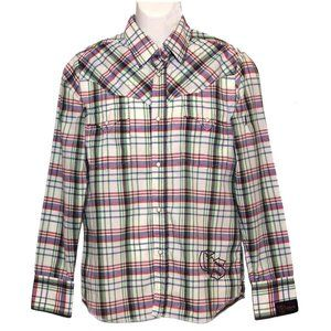 G-Star Western Shirt Plaid Men's Slim Medium